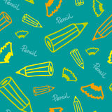 Background with pencils Stock Image