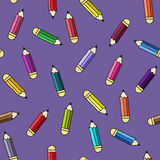Background with pencils. Vector  pattern. Royalty Free Stock Photo