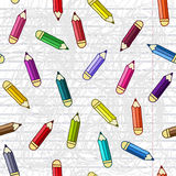 Background with pencils. Vector seamless pattern. Stock Photos