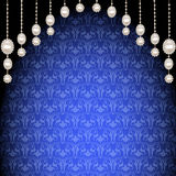 Background with pendants of pearls and ornaments Royalty Free Stock Photo