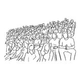 Background of people sitting on stadium to cheer their soccer te Royalty Free Stock Images