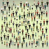 Background of the people. Vector illustration in the background of the people Stock Image