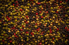 Background from pepper mixture. Mix of peppers shot as background Royalty Free Stock Photography