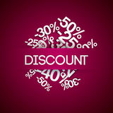 Background with percent discount. Royalty Free Stock Images