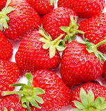 Background of perfect ripe strawberry Stock Photo