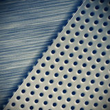 Background perforated metal with tech elements. Abstract design Stock Photo