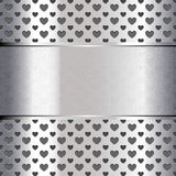 Background perforated shape heart Royalty Free Stock Photos