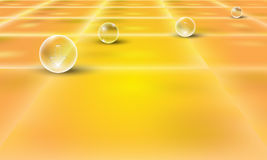 Background with perspective grid and transparent Stock Photography