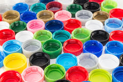 Background from pet bottles caps Royalty Free Stock Photography