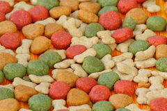 Background pet food Stock Images