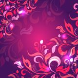 Background from petals of purple, pink color Stock Images