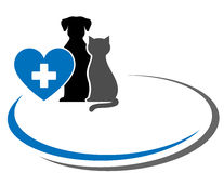 Background with pets and heart Royalty Free Stock Photos