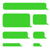 Background phone sms chat bubbles Stock Photography
