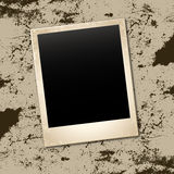 Background. Photo card on grunge wall Stock Images