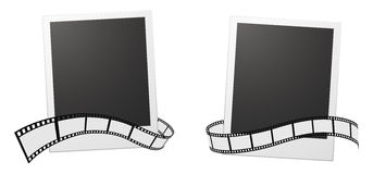 Background. Photo frame with film strip Royalty Free Stock Photo
