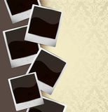 Background with photo frames. Abstract illustration Stock Image