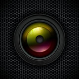 Background with photo lens icon Stock Photography