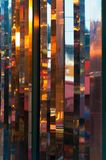 Background for a photo, multicolored lights hanging royalty free stock photography