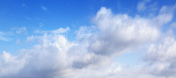Background photo, natural blue cloudy sky Royalty Free Stock Images