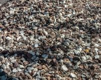 Background. photograph of piles of stone collected and used in building either whole or as crushed rock. Background. photograph of piles of stone collected and royalty free stock photos