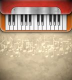 Background with piano Royalty Free Stock Images