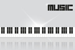 Background with piano keys Stock Image