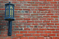Background Picture of Lamp on the Brick Wall Stock Photography