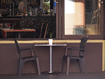 Background Picture of Restaurant Table Royalty Free Stock Photo