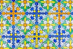 Traditional Andalusian tiles from Seville, Spain stock image