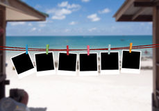 Background pictures on the beach Royalty Free Stock Photography