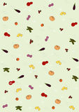 Background with pictures of vegetables Royalty Free Stock Image