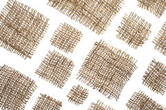 Background from pieces of coarse cloth Royalty Free Stock Image
