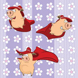 A background with pigs seamless pattern Stock Images