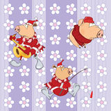 A background with pigs seamless pattern Royalty Free Stock Photos