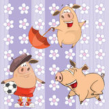 A background with pigs seamless pattern Stock Image