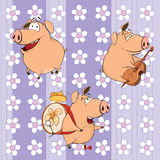 A background with pigs Stock Photo