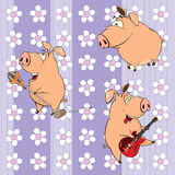 A background with pigs Stock Photos