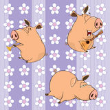 A background with pigs Royalty Free Stock Photo