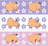 A background with pigs Royalty Free Stock Image
