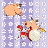 A background with pigs Stock Images