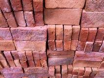 Pile of Neatly Arranged Construction Bricks Royalty Free Stock Photos