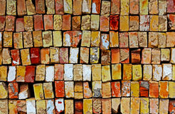 Background pile of the old bricks Royalty Free Stock Photo