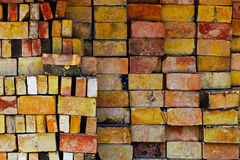 Background pile of the old bricks Stock Image