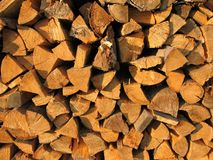 Background: pile of wood Royalty Free Stock Photo