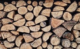Background of pine logs Royalty Free Stock Image