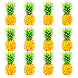Background by pineapple texture and shape Stock Images
