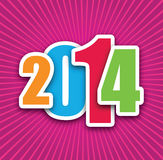 2014 background. A 2014 background in pink Royalty Free Stock Image