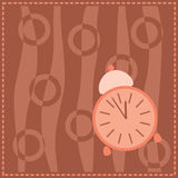 Background with pink alarm Royalty Free Stock Photo