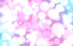 The background is pink with blue. Bokeh effect stock illustration
