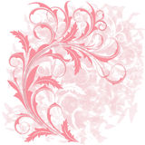 Background  with  pink  branch Stock Photos